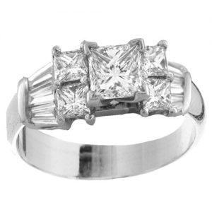 Custom Platinum Engagement Ring